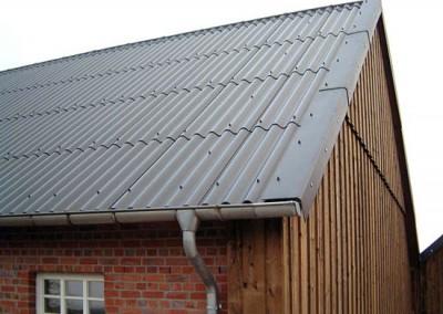 Wellplattendeckung & Holzfassade